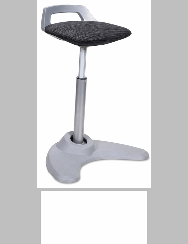 Alera 174 Height Adjustable Balance Perch Stool Red With