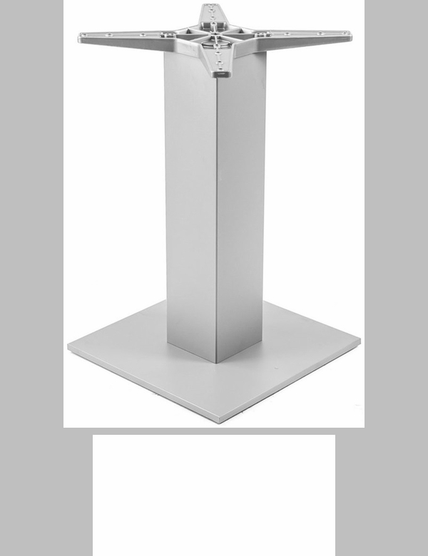 aluminum outdoor bar table base with 6u0027u0027 pole and x square weighted bottom