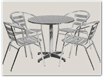 Aluminum Table & Chair Sets