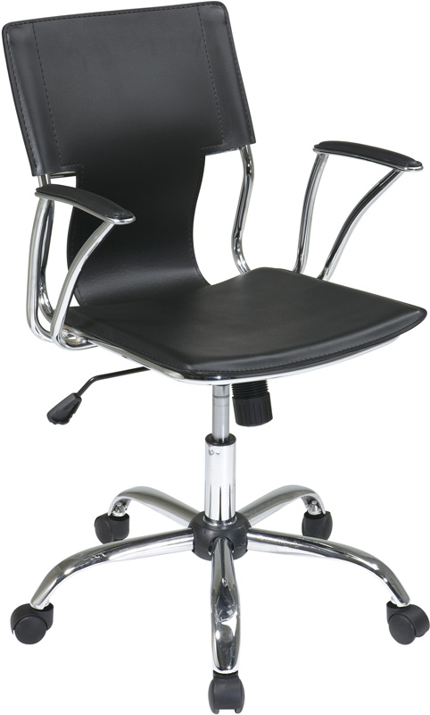 Six Dorado Contour Seat and Back Vinyl Office Chair with Heavy