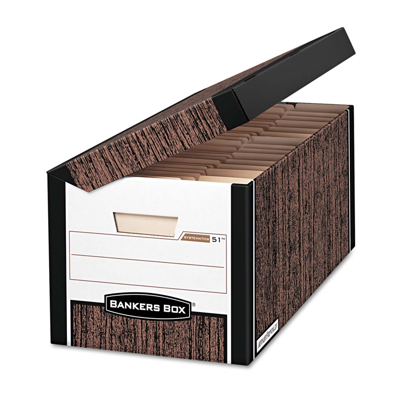 Bankers Box® SYSTEMATIC Med-Duty Storage Boxes - Letter - 12-1/8 x 24 x 10 - Woodgrain ...  sc 1 st  Church Chairs & Box® SYSTEMATIC Med-Duty Storage Boxes - Letter - 12-1/8 x 24 x 10 ... Aboutintivar.Com