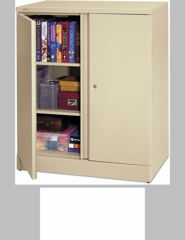 Basyx Easy To Assemble Storage Cabinet With Two Doors