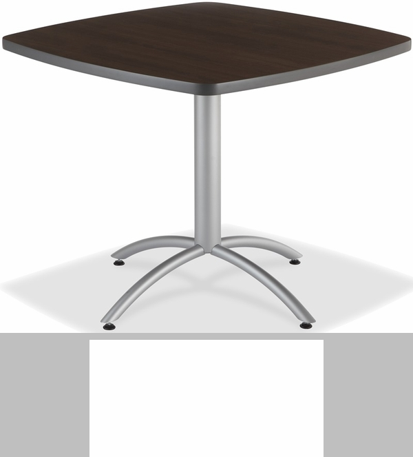 CafeWorks Cafe 36u0027u0027 Square Table   Walnut [65614 ICE]