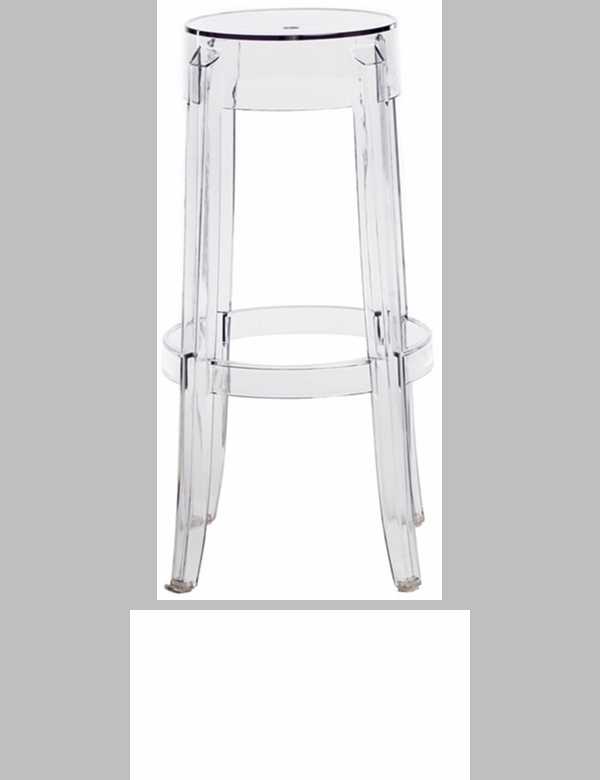 Clear polycarbonate counter height backless ghost stool 26 39 39 h rpc ghost stool 26 csp - Ghost bar stools counter height ...
