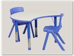 Half-Circle Preschool Table and Chair Sets