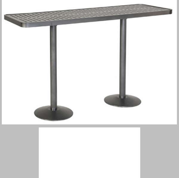 Hanna horizontal bar height table with pedestal base 36 for Html horizontal table