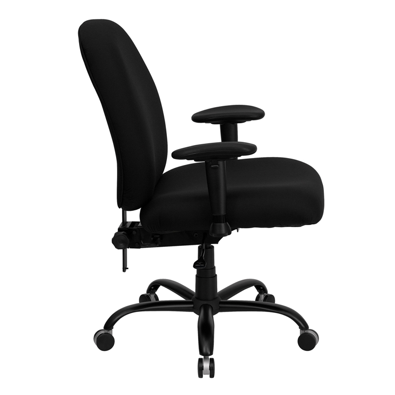 Series Big Tall 400 lb Rated Black Fabric Executive Swivel