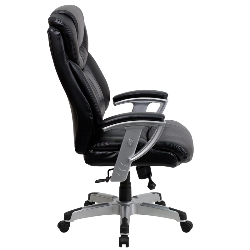 Series Big Tall 400 lb Rated Black Leather Executive Swivel