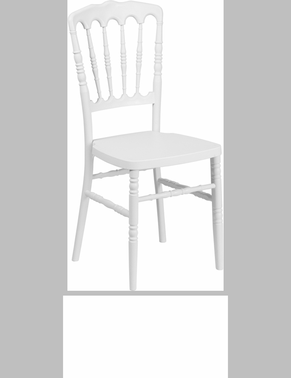 Hercules series white resin stacking napoleon chair with free cushion le l mon wh gg - White resin stacking chairs ...