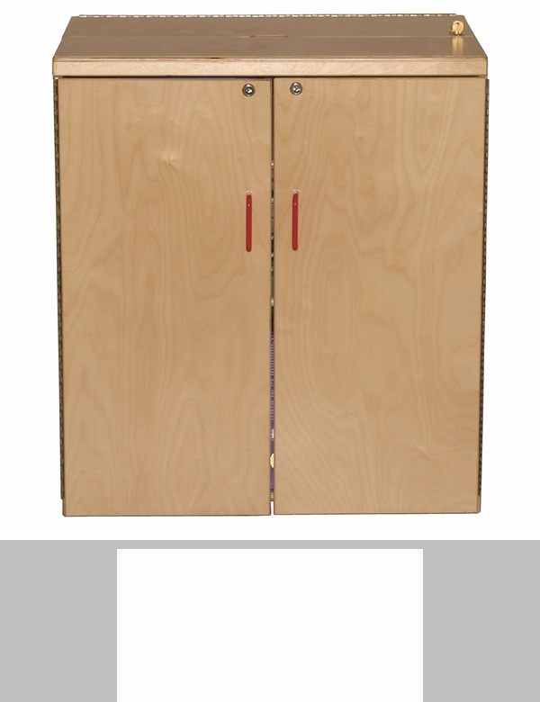 Vertical Healthy Kids Plywood Storage Cabinet with Open and Closed ...