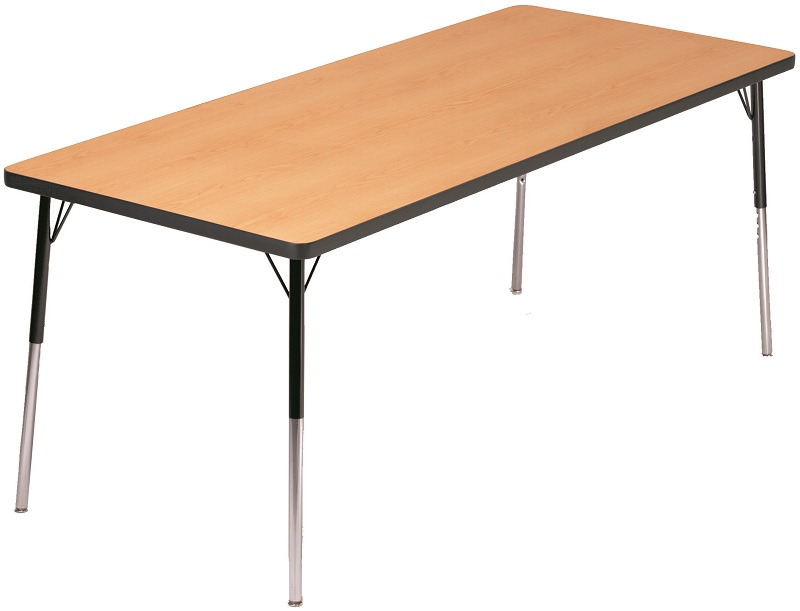 Laminate Top Adjustable Height Rectangle Activity Table With Particleboard  Core   36u0027u0027W X 72u0027u0027D ...
