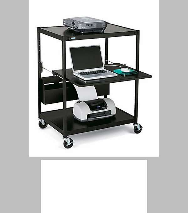 Mobile notebook data projector cart 24 39 39 w x 18 39 39 d x 42 39 39 h for Furniture 4 less outlet