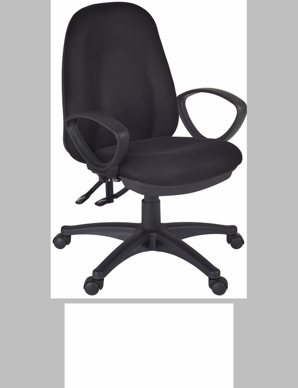 Momentum Height Adjustable Task Chair With Casters Black Fabric 2503bk Fs Reg
