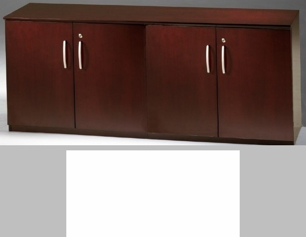 Napoli and Corsica 72''W Low Wall Cabinet with Wood and Glass ...