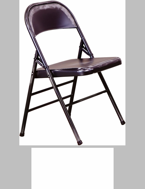 OSP Designs Bristow Distressed Steel Folding Chair   Set Of 2   Antique  Black [BRW831A2 AB OS]