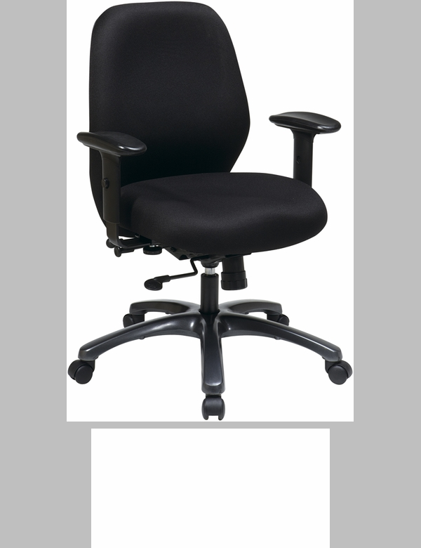 Space Professional Air Grid Back Managers Chair With Black Bonded Leather Sea