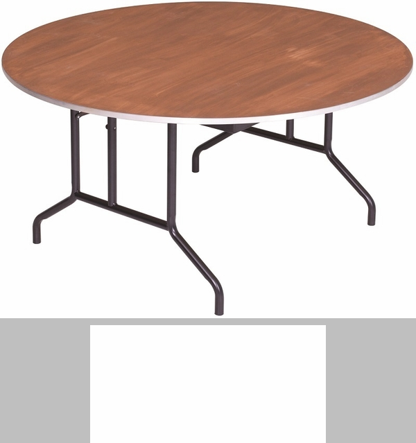 Round Sealed And Stained Plywood Top Table With Aluminum T   Molding Edge    60u0027u0027 Diameter X 29u0027u0027H [R60PA AMTB]