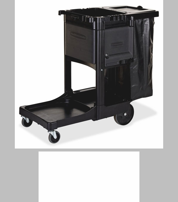 rubbermaid commercial products executive janitor cleaning cart x x