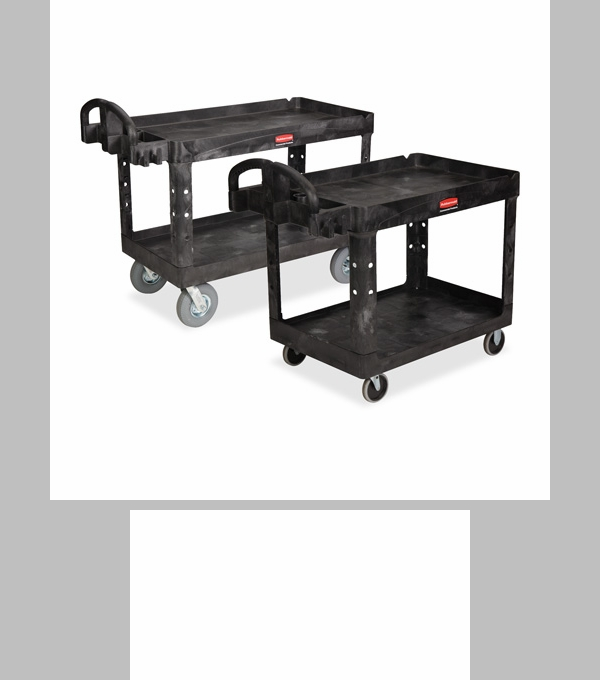 rubbermaid commercial products heavyduty twotiered utility cart x x