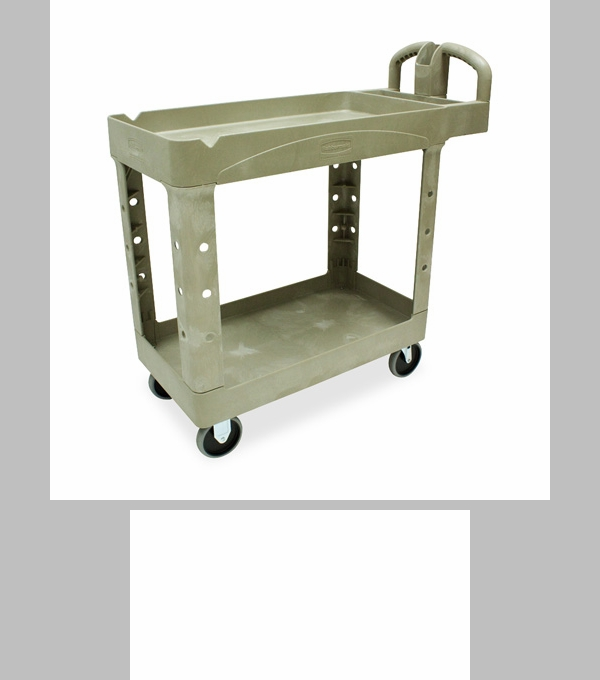 rubbermaid commercial products twotiered full service utility cart x x