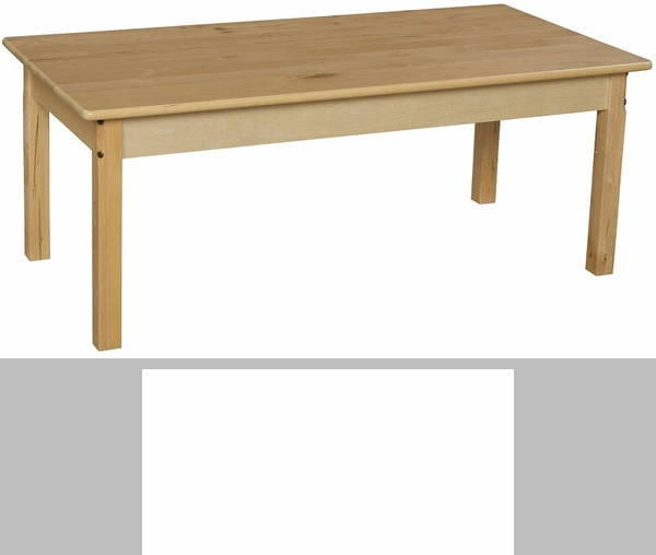 Solid hardwood rectangular table with rounded child safe for Table th rounded corners
