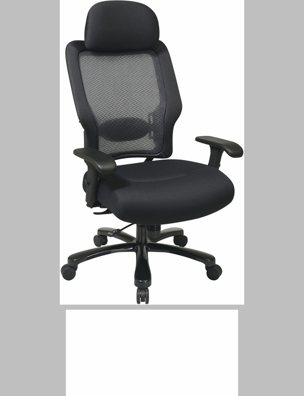 mesh seat office chair with 400 lb weight capacity and lumbar support