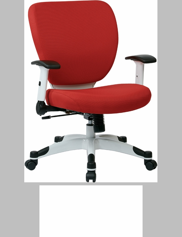 Space professional air grid back managers chair with black for Bureau rouge