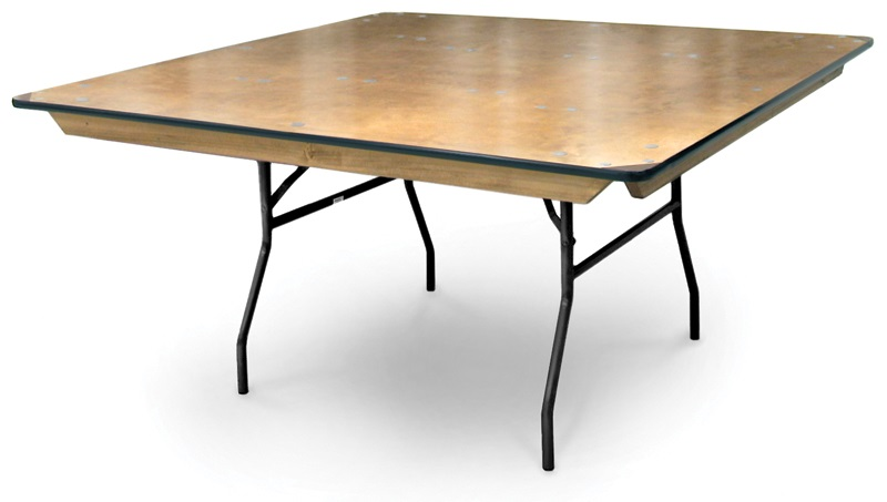 36u0027u0027 Square Plywood Folding Table With Locking Wishbone Style Legs  [70065 MCC]