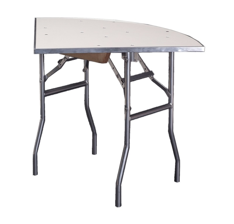 Standard Series Quarter Round Folding Banquet Table With Aluminum Edge And  Mayfoam Top   36u0027u0027 Radius X ...
