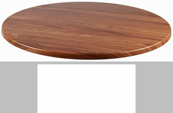 Topalit 36'' Round Indoor/Outdoor Table Top - Teak [36-RND ...