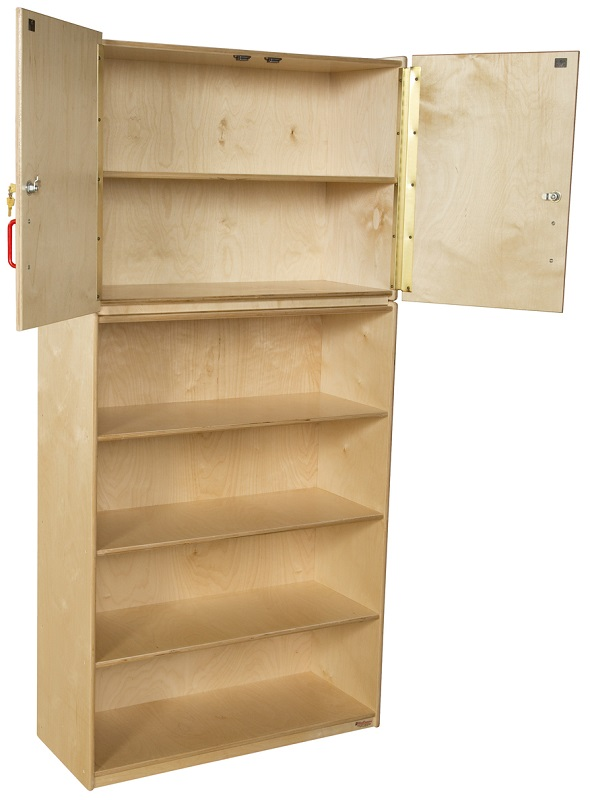Healthy Kids Plywood Storage Cabinet with Open and Closed Storage ...