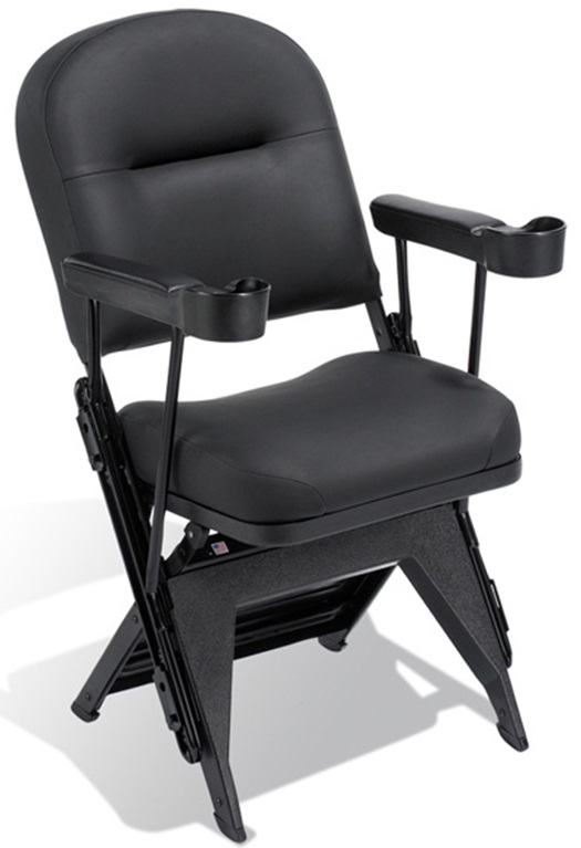 High Quality VIP Series Upholstered Seat And Back Folding Chair With Arms And Leg Covers  [5300IBR IB53ARMRST CS]