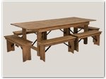 Wood Restaurant Table & Chair Sets