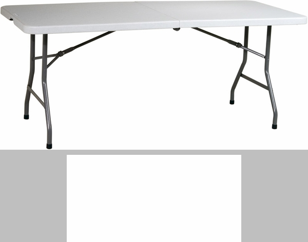 Work Smart 6u0027 Resin Multi Purpose Center Folding Table With Powder Coated  Frame [BT6FQ OS]