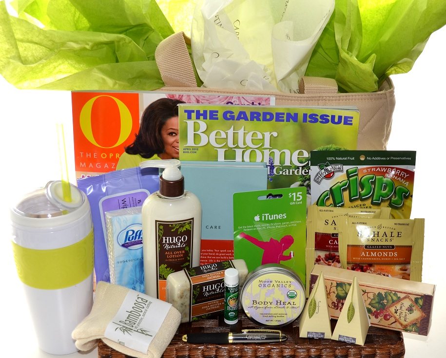 Gift basket ideas for women the image for Unusual get well gifts