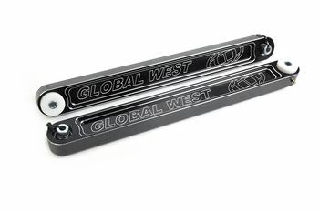 Aluminum trailing arms (control arms) for 1964,1965, 1966, 19677, 1968, 1969, 1970, 1971, 1972 GTO, Grand Prix, Lemans, and Tempest from Global West Suspension.