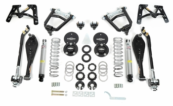 1967,1968, 1969, 1970 Mustang Coilover Front End Kit - Street Drag/Small Block (Single Adjustable) Global West Suspension