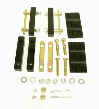 1967, 1968, 1969, Camaro and Firebird plus 1968, 1969, 1970, 1971, 1972, 1973, 1974 Nova bolt-on kit for converting mono leaf spring to multi-leaf spring. Global West Suspension