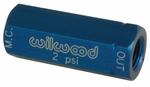 Residual  2 lb. Pressure Valve with Fittings (Blue) Part # W260-3278