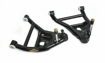Impala, Caprice front tubular lower arms for coilover from Global West Suspension. 1971-1976