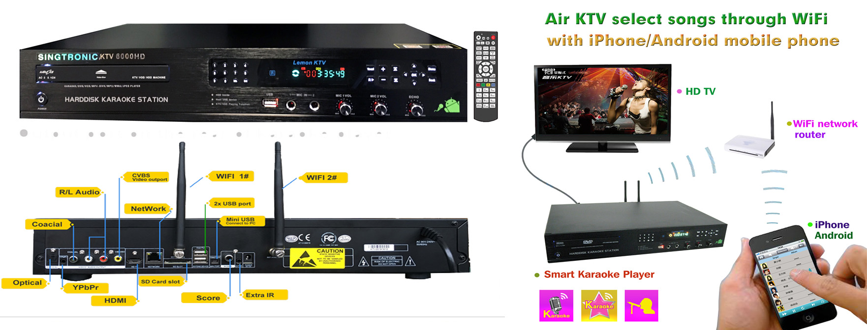 SINGTRONIC KTV-6000HDII PROFESSIONAL 5TB ANDROID HARD ...