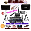 """SINGTRONIC COMPLETE 1500 WATTS PROFESSIONAL KARAOKE SYSTEM SPECIALS <b><i><font color=""""#FF0000"""">FREE 50,000 SONGS</font></i></b> SPECIAL WIFI FUNCTION & HDMI OUTPUT & BLUETOOTH FUNCTION"""