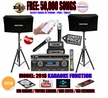 "SINGTRONIC PROFESSIONAL COMPLETE 1500W KARAOKE SYSTEM SPECIALS WITH FREE: 50,000 SONGS <font color=""#FF0000""><b><i>NEWEST MODEL: 2018 DSP, HDMI, WIFI & RECORDING FUNCTION</i></b></font>"