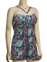 Aerin Rose Convertible Underwire A-Line Swimdress 301 - Viper