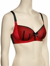 Parfait Charlotte Padded Bra 6901 - Red / Black
