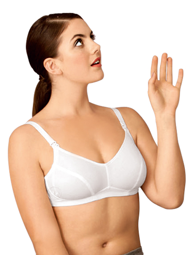 Anita Cotton Wire-Free Nursing Bra 5014 - White