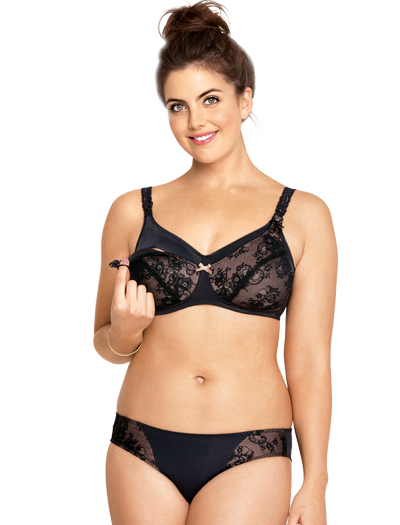 Anita Maternity Lace Padded Wire-Free Nursing Bra 5047 - Black