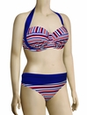 Audelle Sailor Moulded Halter Bandeau Bikini Top 168661 - Stripe Multi