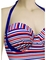 Audelle Sailor Moulded Halter Bandeau Swimsuit 168682 - Stripe Multi3