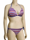 Audelle Sailor Moulded Triangle Bikini Top 168663 - Multi Stripe